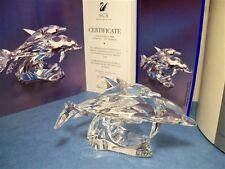 "SWAROVSKI SCS 1990 ANNUAL EDITION ""LEAD ME"" DOLPHINS 153850 / DO1X901 MIB COA"
