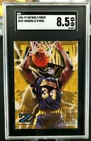 Shaquille O'Neal 1996-97 SkyBox Z-Force 'Zupermen' SGC 8.5 NM/MT+ #187 - Lakers