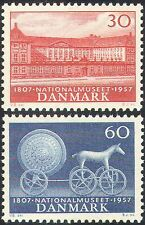 Denmark 1957 Museum/Horse/Chariot/History/Buildings/Heritage 2v set (n42737)