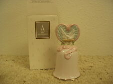 Nib Avon Fine Collectible Love's Beginnings Porcelain Bell 1995 Valentine's Day