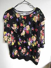 BLOUSE LOOK INC Womens PLUS SIZE 30-50W Blouse Top POLY SILKY CAREER WEAR FLORAL