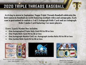 Cleveland Indians! 2020 Topps Triple Threads Full Case 9x Break