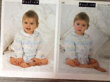 "Hayfield 4123 Vintage Baby Knitting Pattern Girls Cardigans 16-20/"" DK Repro"