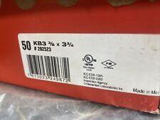 Hilti 50 Kb3 3/8 X 3-3/4 #282523 Stud Wedge Anchors Nib New In Box Perfect