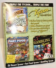 Tycoon Collection PC CD-Rom Software-Ski Resort, Fast Food & Gambling Tycoon2000