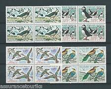 OISEAUX - 1960 YT 1273 à 1276 blocs de 4 - TIMBRES NEUFS** LUXE