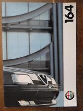 ALFA ROMEO 164 range 1994 UK Market Prestige bProchure - Twin Spark & Cloverleaf