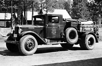 """1935 US Forest Service Tanker Fire Truck, CA Vintage Old Photo 11"""" x 17"""" Reprint"""