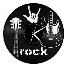Rock Sign of the Horns Vinyl Wall Clock Unique Gift for Friends Room Decoration