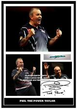50.  PHIL TAYLOR DARTS  SIGNED  PHOTOGRAPH