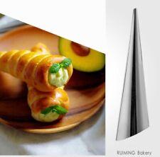 10pcs Cream Horn Shaper Mould Cake Cannoli Croissant Cone Tube Baking Form Mould