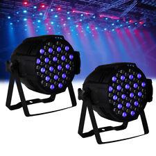 2Pcs 54x3W RGBW LED PAR Stage luminoso DMX-512 LED PAR 64 luce DJ discoteca Bar