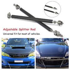 2X Universal Adjustable Front Rear Bumper Protector Splitter Rod Support