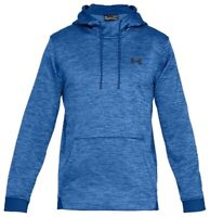 Under Armour Mens Sweater Blue Size Small S Fleece Pullover Hooded $55 297