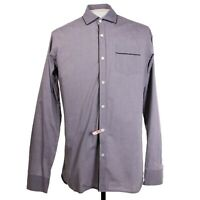 Dries Van Noten Mens sz 48 Gray Long Sleeve Button Front Shirt