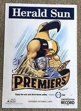 2015 West Coast Eagles LOSING Limited Edition Poster Knight WEG rare!!!