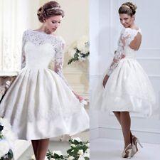 Womens Ballgown Wedding Brides Bridesmaids Dress Halterneck Evening Mini Dress