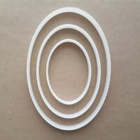 Oval Curve Egg Ellipse Shape Cookie Cutter Dough Biscuit Pastry Fondant Sharp