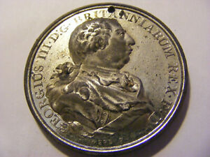 A 1805 MDCCV George III Britanniarum Rex  Medal - nice condition, 42mm