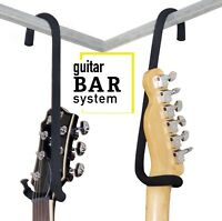 "Guitar Bar Hanger 9""  Closet Hanger/Display for Electric Acoustic 4 String Bass"