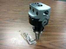 """4'' PRECISION ADJUSTABLE BORING HEAD WITH CAT40 SHANK w. 1"""" hole #820--new"""