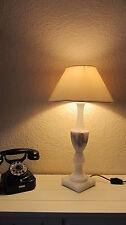 Tisch- Fensterbank-  Lampe Leuchte Marmor Schreibtischlampe '50er Jahre TOP