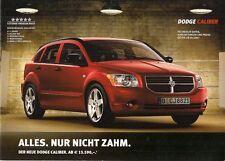 Dodge Caliber Specifications 2007 German Market Brochure S SE SXT R/T
