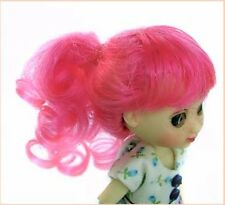 """Doll Wig, Monique Gold """"Jill"""" 3.25"""" in PINK - for Amelia Thimble"""