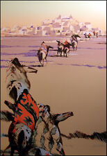 B.C Nowlin Into Day  Indian Horses Hand Signed Fine Art Serigraph on Paper OBO