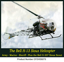 The Bell H-13 Helicopter - The Military Version of the Bell 47  Free Shipping US