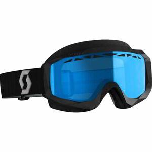 Scott Hustle X Black/Gray w/Enhancer Teal Chrome Lens Snowcross Goggles