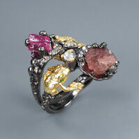 Natural Ruby 925 Sterling Silver Ring Size 7/RR17-1400