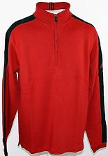 ADIDAS MICLt 1/2 ZipPull Golf Pullover Herren Sweatshirt Men Rot/Schwarz Gr. 50
