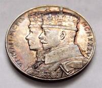 Solid Silver Medal Vintage 1935 King George V Silver Jubilee