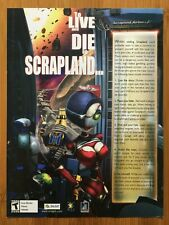 American McGee Presents Scrapland PC 2004 Vintage Poster Ad Art Print Official
