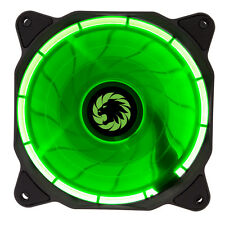 GameMax Ring LED Green 12CM 120mm Fan Cooler Case PC Computer Cooling 3 / 4 Pin