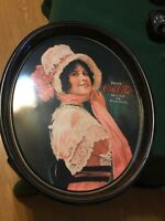 Vintage 1972 Coca-Cola Metal Oval Serving Tray 1914 Betty Girl