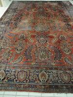 echter Perser Teppich antik Sarough old persian rug carpet antigue tapis tappeto