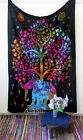 Elephant Tree Of Life Psychedelic Tapestry Throw Indian Tapestries Wall Hanging