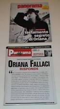 RIVISTA PANORAMA NOV 2002 MAG 2010-ORIANA FALLACI VANONI-JESSICA BIEL BEATLES