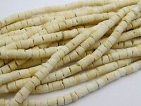 "5 Strands of 22"" Natural White Coconut Heishi Beads 3mm"