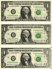 "1981-A $1.00 Federal Reserve Note  9 Consecutive ""ERROR NOTES"" Solvent Smear"