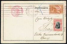123 BULGARIA TO AUSTRIA CENSORED POSTCARD -ROYALTY- 1916 SOPHIA - PRAHA (CZECH)