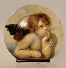 7� St. Martin Email de Limoges Angel Collector Salad Dessert Plate