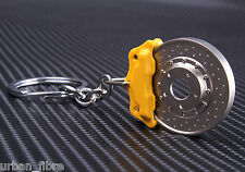 Brake Disc Caliper Yellow Keyring Keyfob Engine Novelty Piston Brembo Pads Bolts