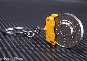 Brake Disc Caliper Yellow Keyring Keyfob Engine Novelty Piston Pads Bolts