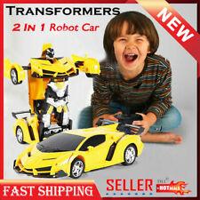 Toys Car Kids Transformer RC Robot Toy Model Car Remote Control Birthday Gifts