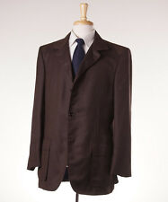 New $7500 BIJAN Root Beer Brown Woven Cashmere-Silk Blazer 42 R Sport Coat