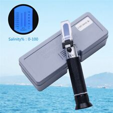 Salinity Refractometer Meter Water Reader Marine 0~10% Salt Aquarium Tester