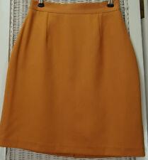 "BNWT ULRIKA Pencil Skirt XS EU34 25"" Waist Lined Peach Orange Short Mini Skirt"